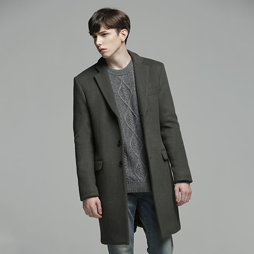 2904 PREMIUM WOOL SINGLE COAT SHARKSKIN GREY